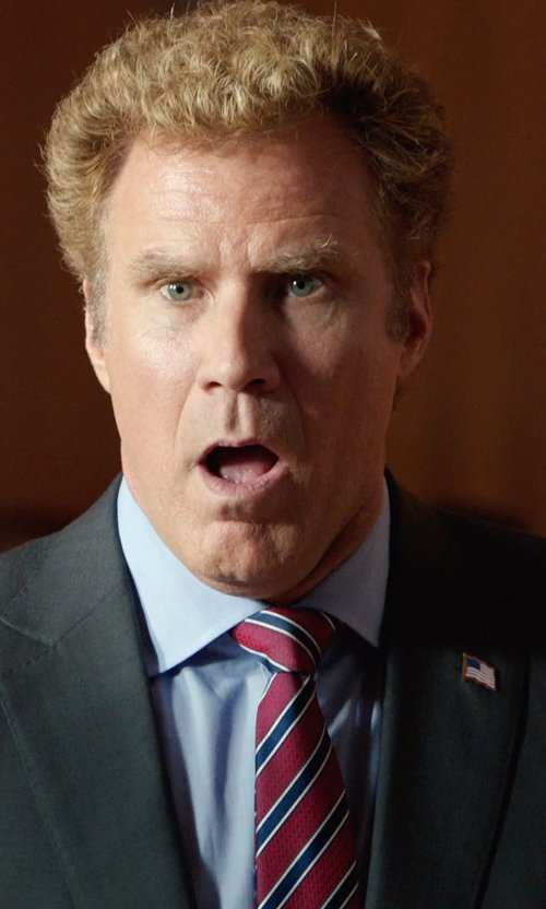 Will Ferrell with Countess Mara Varsity Stripe Tie in Get Hard