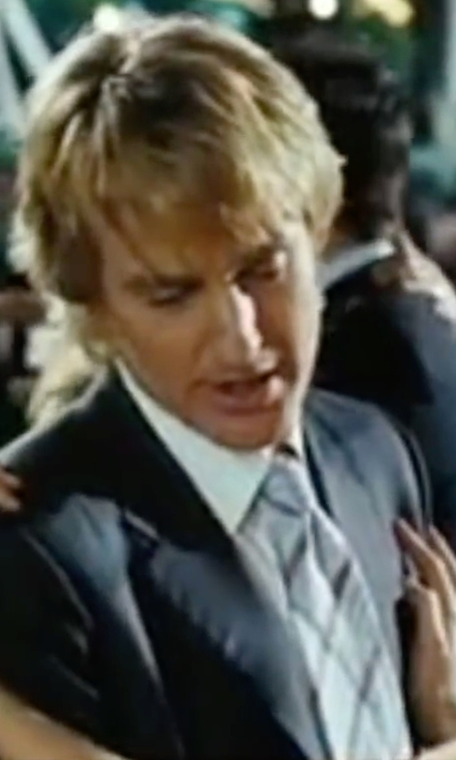 Owen Wilson with Burberry Modern Cut Check Silk Tie in Wedding Crashers