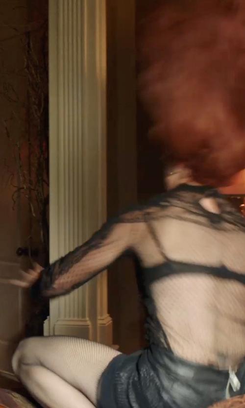 Mireille Enos with MINKPINK 'Hustler' Faux Leather Miniskirt in Sabotage