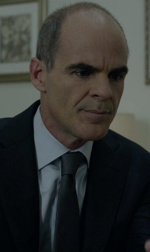 Michael Kelly with Armani Collezioni Woven Neat Silk Tie in House of Cards