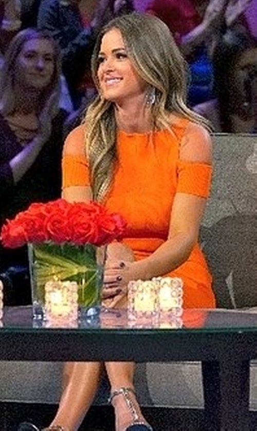 JoJo Fletcher with Roberto Cavalli Pumpkin Ribbed Knit Dress in The Bachelorette