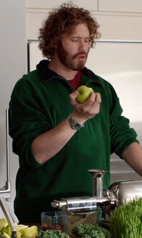 T.J. Miller with Croton Black Dial Stainless Steel Sport Watch in Silicon Valley