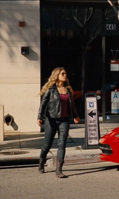 Ronda Rousey with Designs by Stephene Criss Cross Back Tank Top in Entourage