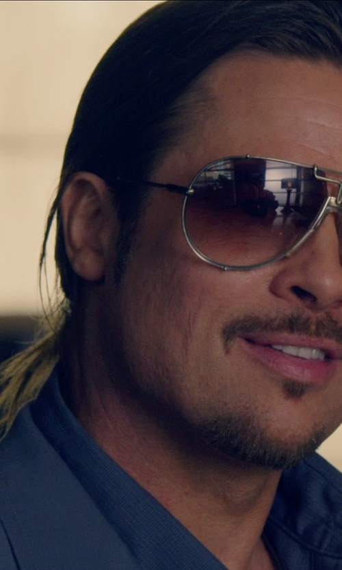 Brad Pitt with Cazal 901 Oval Sunglasses in The Counselor