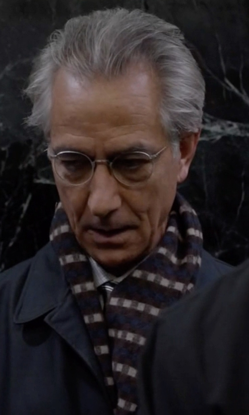 David Strathairn with Johnstons  Cashmere Scarf in The Blacklist