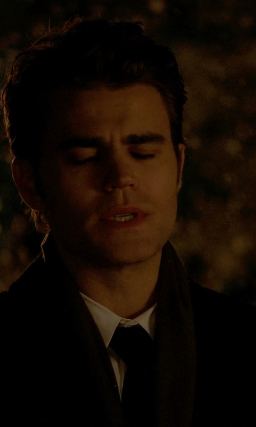 Paul Wesley with Polo Ralph Lauren Cashmere Blend Scarf in The Vampire Diaries