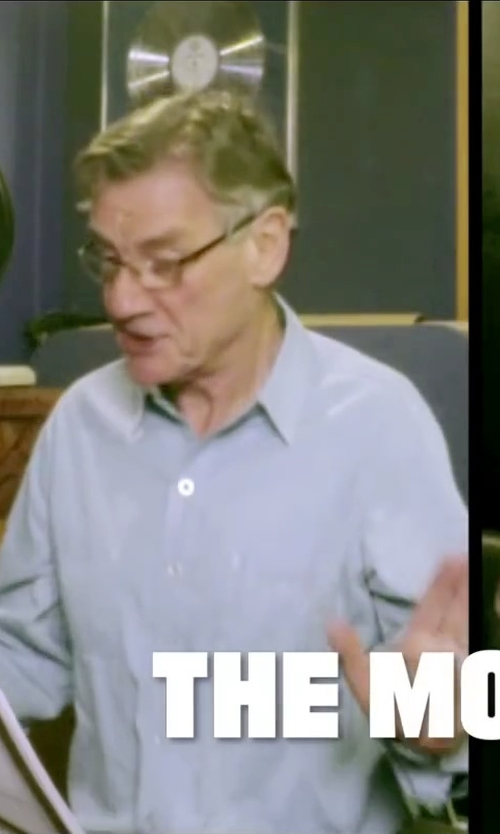 Michael Palin with Calvin Klein Platinum Slim-Fit Solid Dress Shirt in Absolutely Anything
