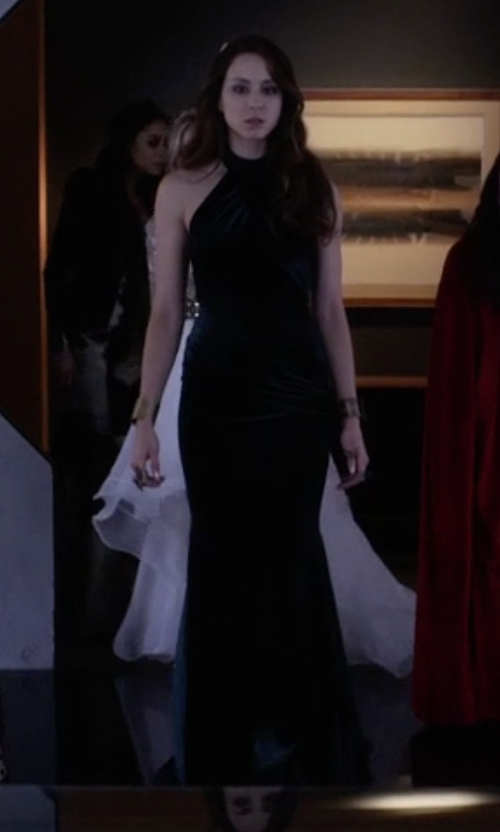 Troian Bellisario with Walter Mendez Nora Gown in Pretty Little Liars