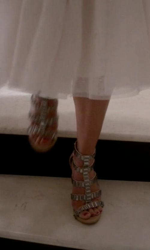 Lea Michele with Steve Madden Women's Famme Sandal in Scream Queens