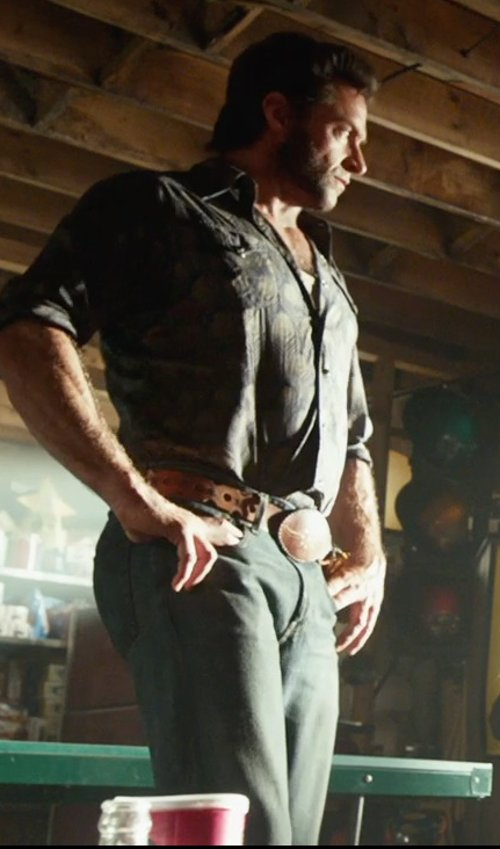 Hugh Jackman with 7 For All Mankind Standard Straight Leg Jeans in X-Men: Days of Future Past