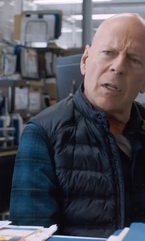 Bruce Willis with PX Clothing Clark Flannel Shirt in Death Wish