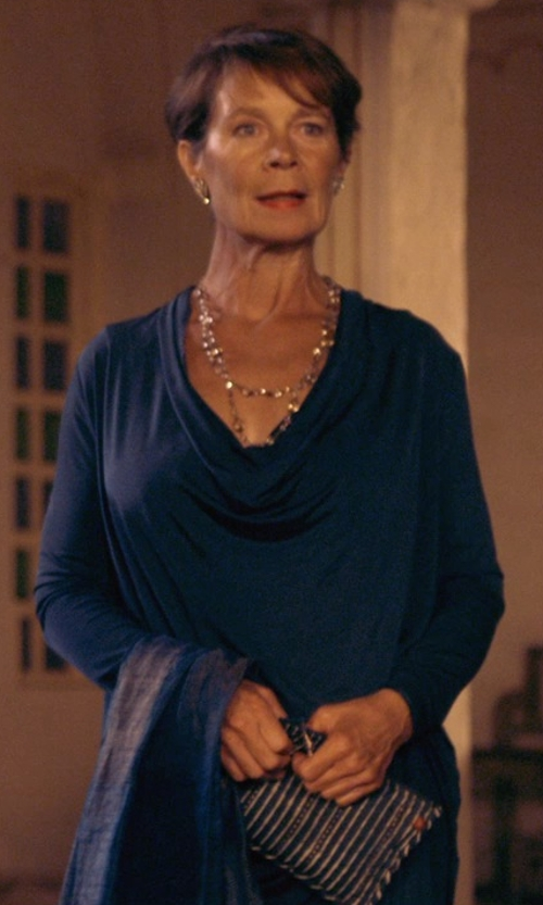 Celia Imrie with Mark and Graham Vivid Zip Pouch in The Second Best Exotic Marigold Hotel