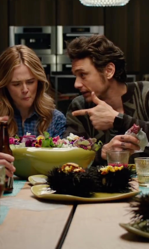 James Franco with Russel Wright American Modern Chop Platter in Why Him?
