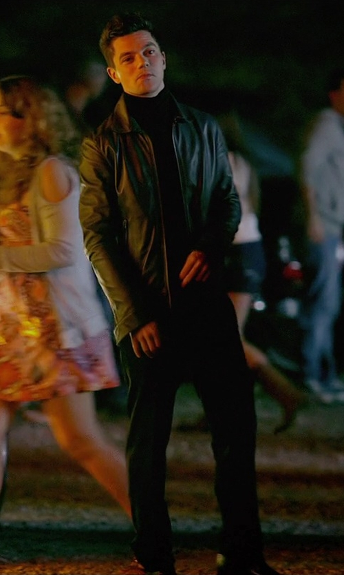 Dominic Cooper with Tommy Hilfiger Smooth Lamb Leather Jacket in Need for Speed