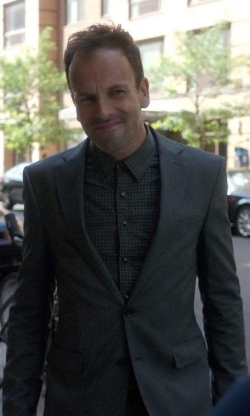 Jonny Lee Miller with Acne Studios Aron Slim-Fit Wool-Tweed Suit Jacket in Elementary