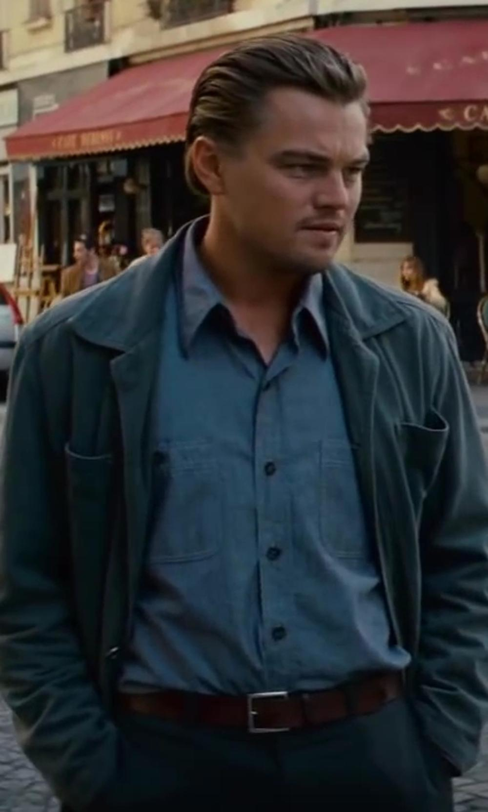 Leonardo DiCaprio with Jeffrey Kurland (Costume Designer) and Anto Beverly Hills (Tailor) Custom Made Linen Button Down Shirt in Inception