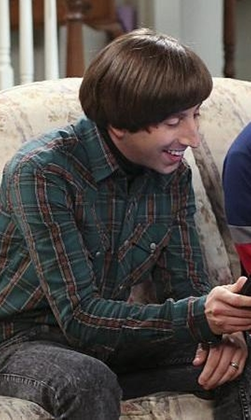 Simon Helberg with Afends Junky Jeans Men's Skinny Fit Jeans in The Big Bang Theory