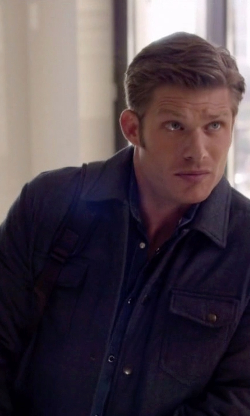 Chris Carmack with Alex Mill Quilted Shirt Jacket in Nashville
