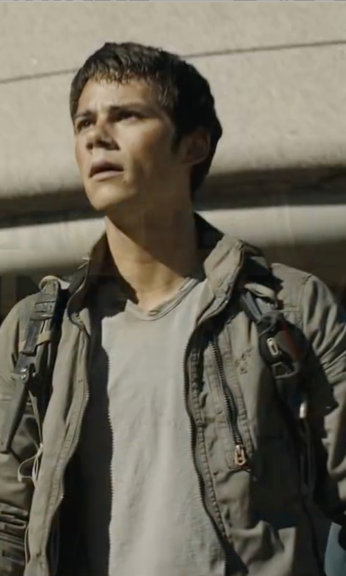 Dylan O'Brien with G-Star Raw Recroft Overshirt Jacket in Maze Runner: The Scorch Trials