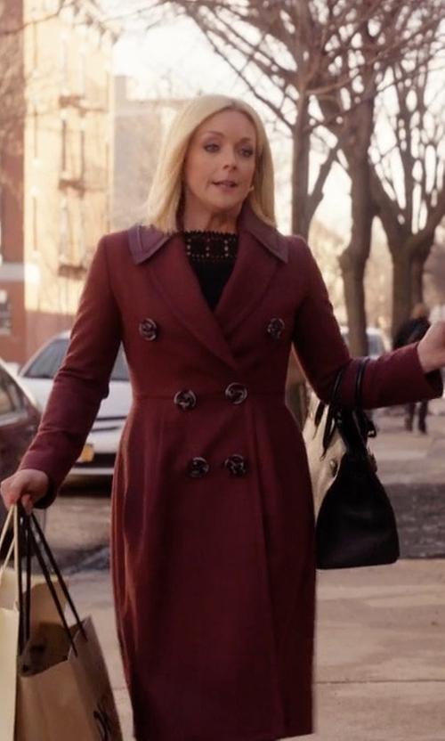 Jane Krakowski with Fendi Double Breasted Coat in Unbreakable Kimmy Schmidt