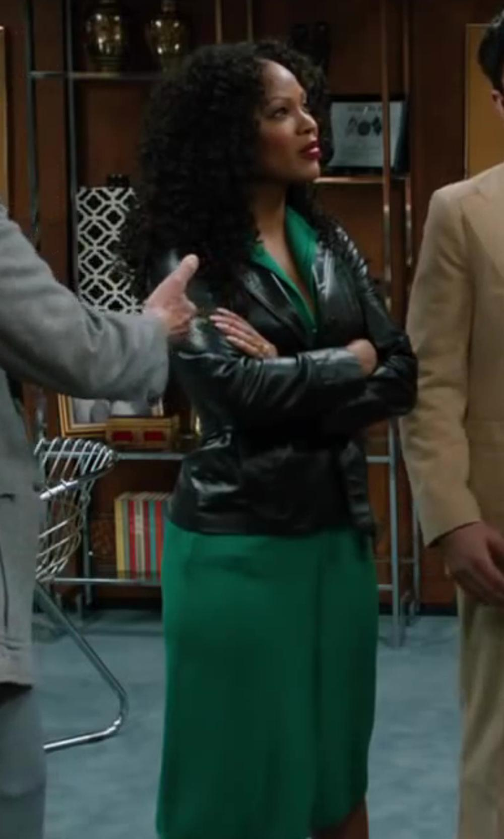 Meagan Good with The Limited The Ashton Shirtdress in Anchorman 2: The Legend Continues