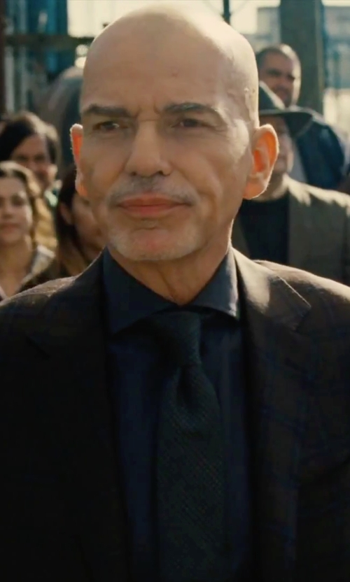 Billy Bob Thornton with Hickey Freeman 'Beacon' Classic Fit Plaid Wool Suit in Our Brand Is Crisis