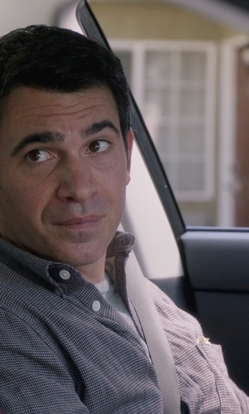 Chris Messina with Zachary Prell Agerbeek Microcheck Regular Fit Button Down Shirt in The Mindy Project
