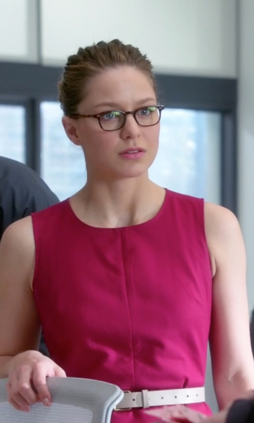 Melissa Benoist with Mauro Grifoni Leather Belt in Supergirl
