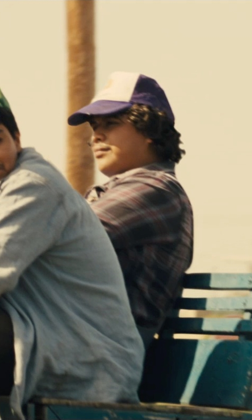 Ramiro Rodriguez with American Apparel Tartan Plaid Flannel Shirt in McFarland, USA