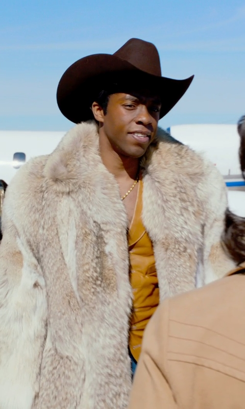 Chadwick Boseman with Resistol The Challenger Cowboy Hat - 5X Fur Felt in Get On Up