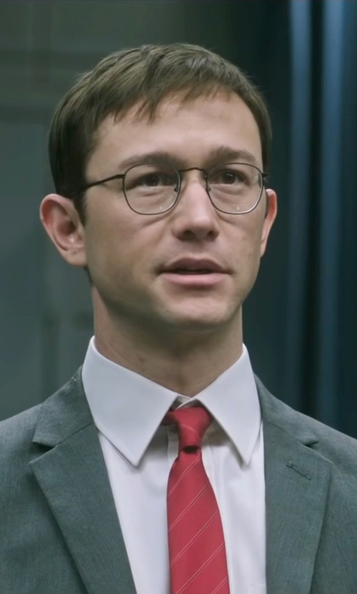 Joseph Gordon-Levitt with Brooks Brothers Mixed Weave Alternating Stripe Tie in Snowden