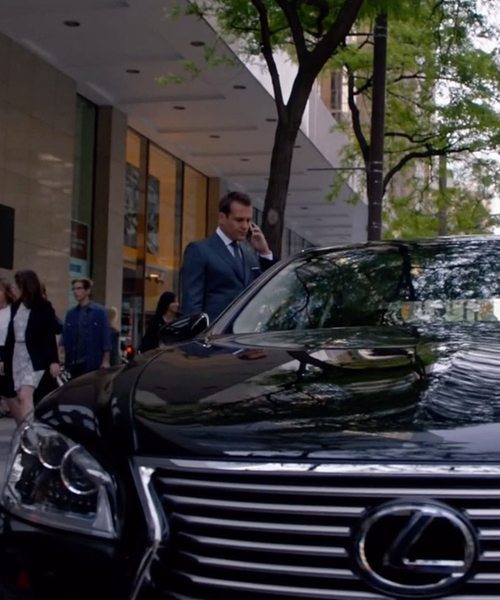 Gabriel Macht with Lexus LS Sedan in Suits