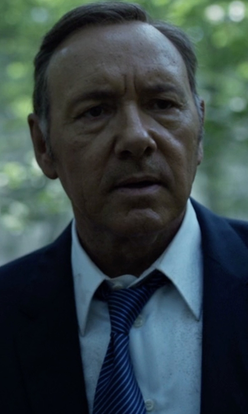 Kevin Spacey with Boss 'Ilias' Point Collar Dress Shirt in House of Cards