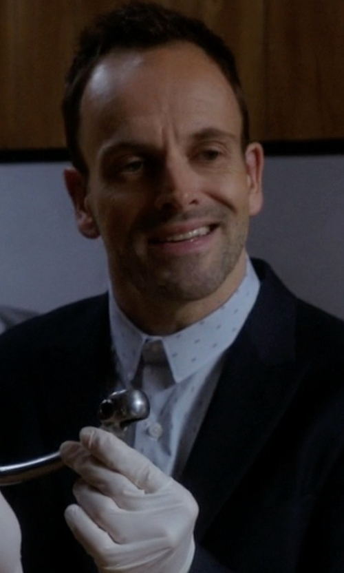 Jonny Lee Miller with Cego Custom Made Printed Button Shirt in Elementary