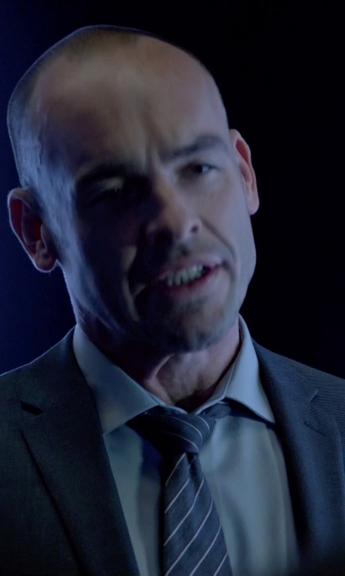 Paul Blackthorne with Hugo Boss Sharp-Fit Dress Shirt in Arrow