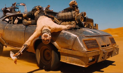 Unknown Actor with Ford Modified 1973 Falcon XB GT Coupe (Interceptor) in Mad Max: Fury Road