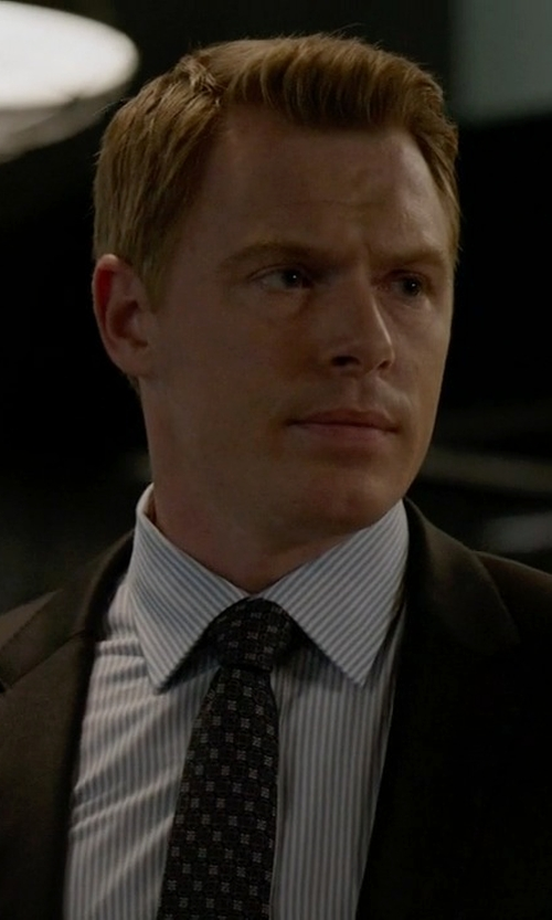Diego Klattenhoff with Canali French Cuff Striped Dress Shirt in The Blacklist