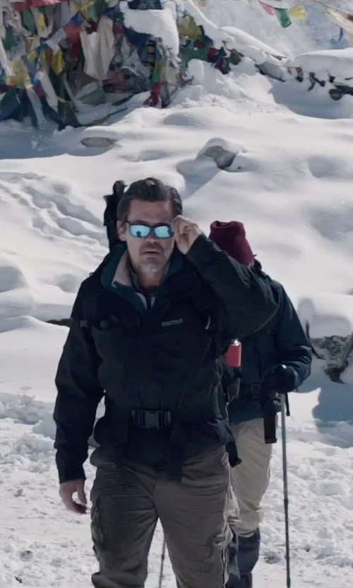 Josh Brolin with Oakley Flak Jacket Polarized Sport Sunglasses in Everest