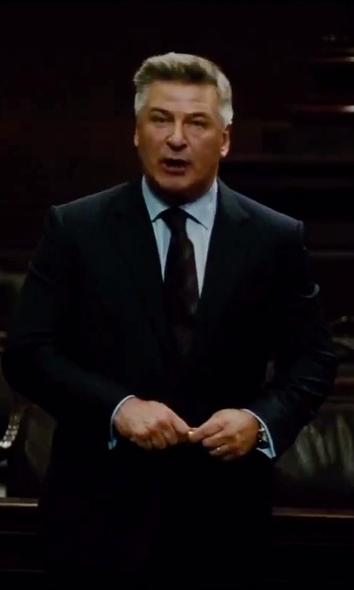 Alec Baldwin with Jack Victor Verona Wide Stripe Suit in Mission: Impossible - Rogue Nation