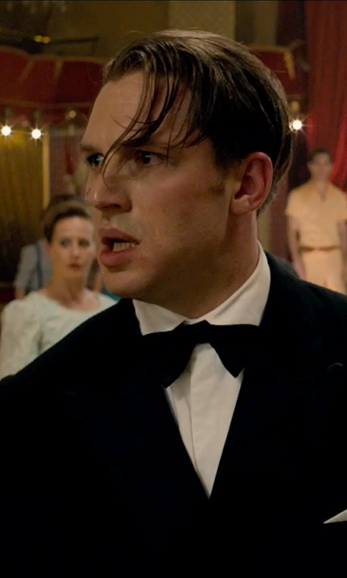 Tom Hardy with Neiman Marcus Satin Bow Tie in Legend