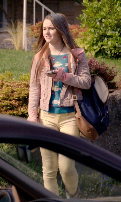 Kaitlyn Dever with Longchamp Le Pliage Backpack in Laggies