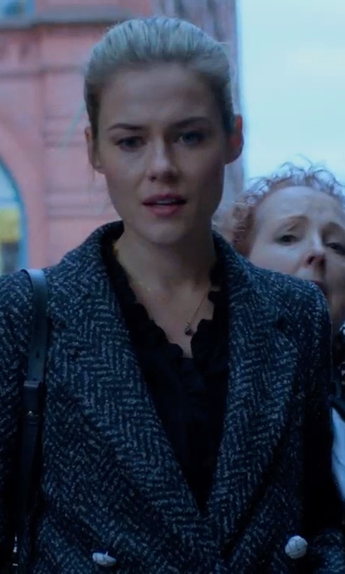 Rachael Taylor with Misook Spider Web One-Button Jacket in Marvel's The Defenders