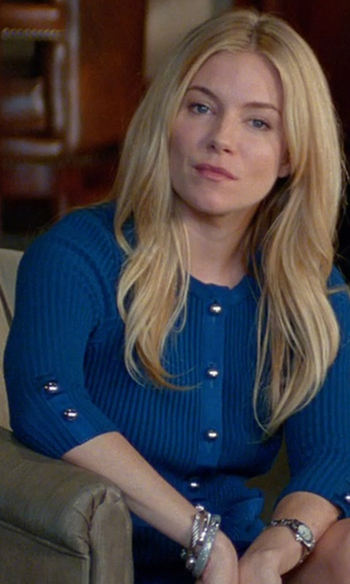 Sienna Miller with David Yurman Cable Classics Bracelet in Unfinished Business