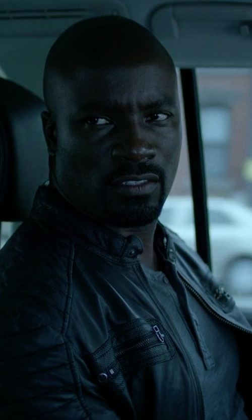 Mike Colter with Affliction Clothing Easy Rider Leather Jacket in Jessica Jones