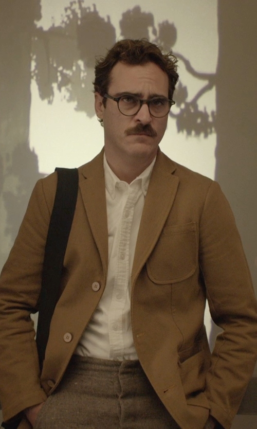 Joaquin Phoenix with Gant Rugger Canvas Unconstructed Blazer in Her