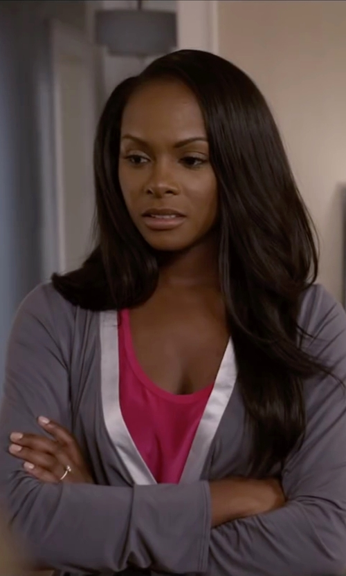 Tika Sumpter with Calvin Klein Underwear Essentials with Satin Short Robe in Ride Along 2
