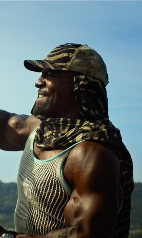 Terry Crews with Marcelo Pequeno Camo Micromodal and Cotton Scarf in The Expendables 3