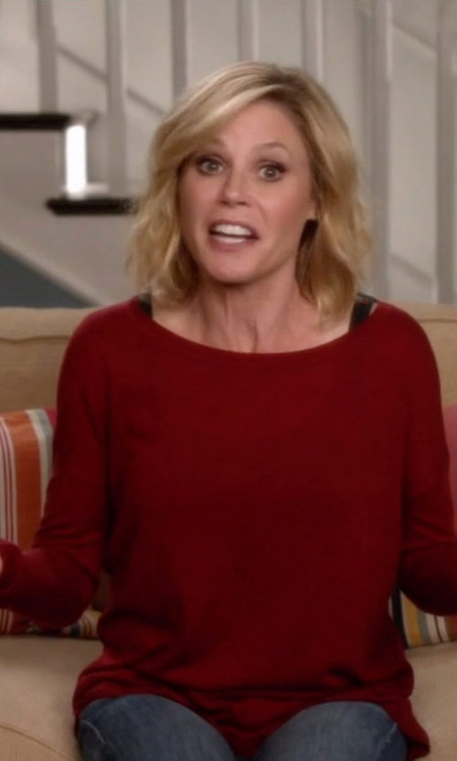 Julie Bowen with Joie  Zephyrine Drop-Shoulder Sweater in Modern Family