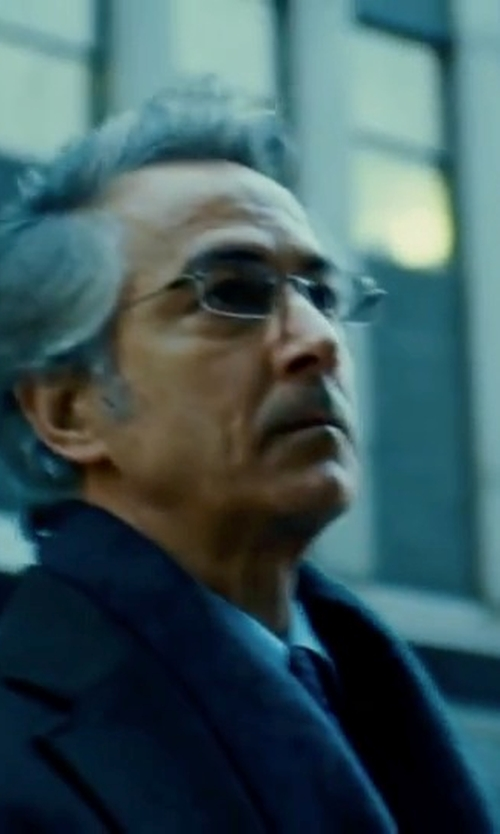 David Strathairn with C/89 Men Wool Scarf in The Bourne Ultimatum
