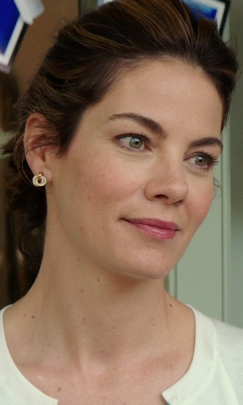 Michelle Monaghan with Lagos 'Link' Circle Drop Earrings in The Best of Me